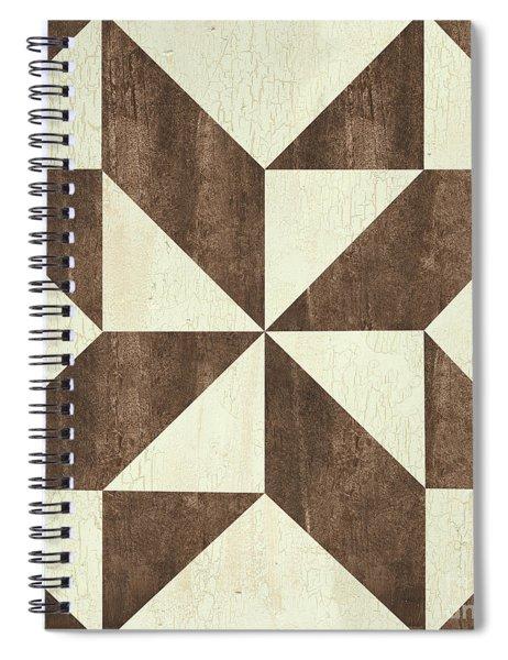 Cream And Brown Quilt Spiral Notebook