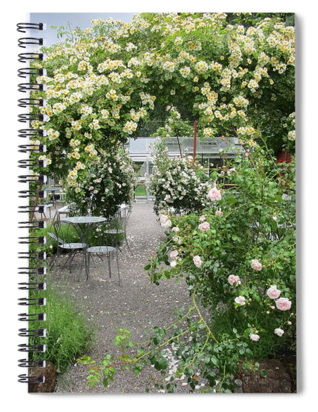 Cream-colored Roses With Your Coffee Spiral Notebook