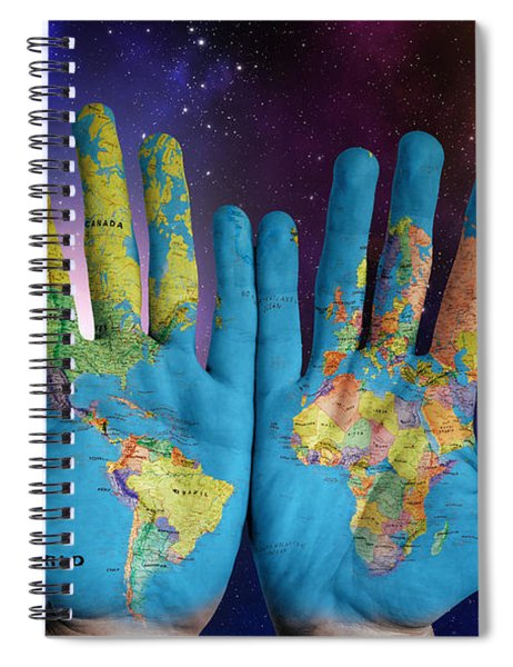 Spiral Notebook featuring the digital art Created By God's Own Hands by ISAW Company