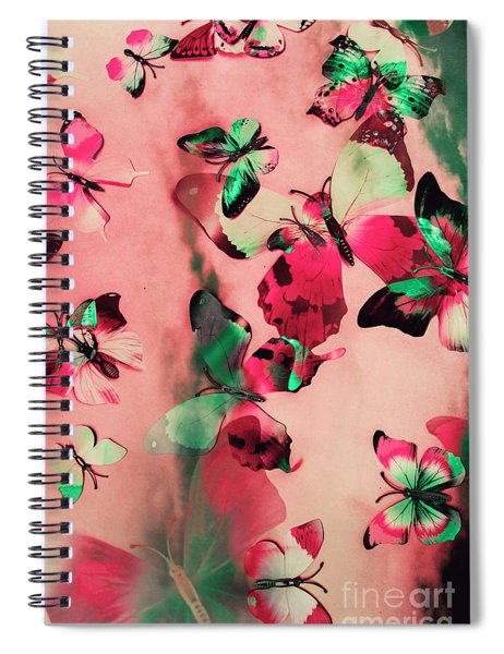 Creative Butterfly Background Spiral Notebook