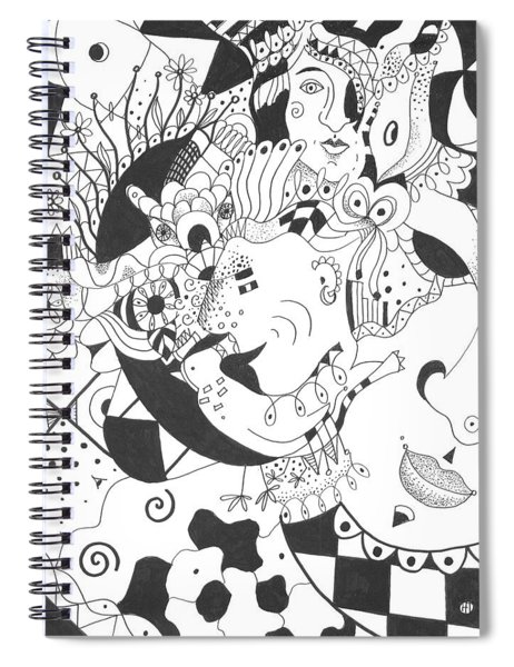 Creatures And Features Spiral Notebook