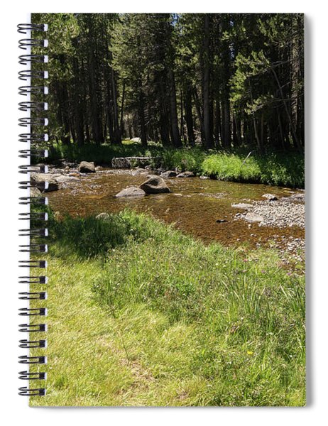 Creek Along Tioga Pass Yosemite California Dsc04289 Spiral Notebook