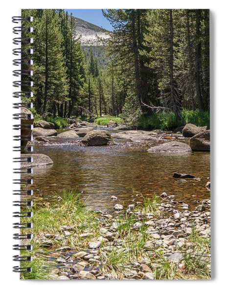 Creek Along Tioga Pass Yosemite California Dsc04300 Spiral Notebook