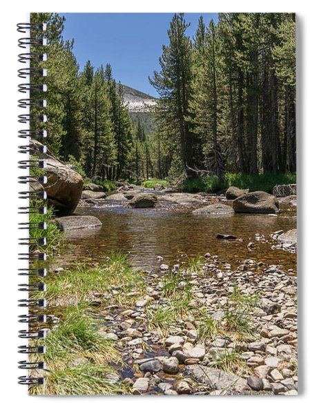 Creek Along Tioga Pass Yosemite California Dsc04301 Spiral Notebook