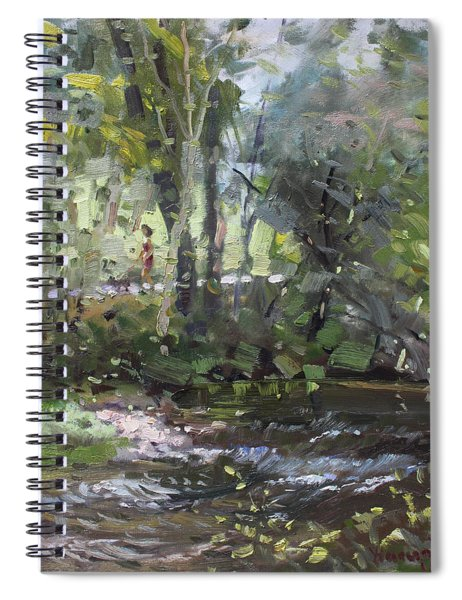 Creek At Three Sisters Islands Spiral Notebook