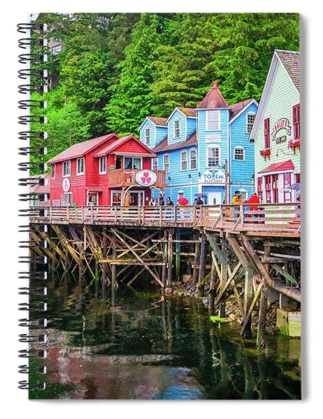 Creek Street Ketchikan Alaska Spiral Notebook