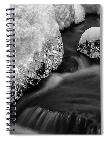 Creek Under The Ice Spiral Notebook