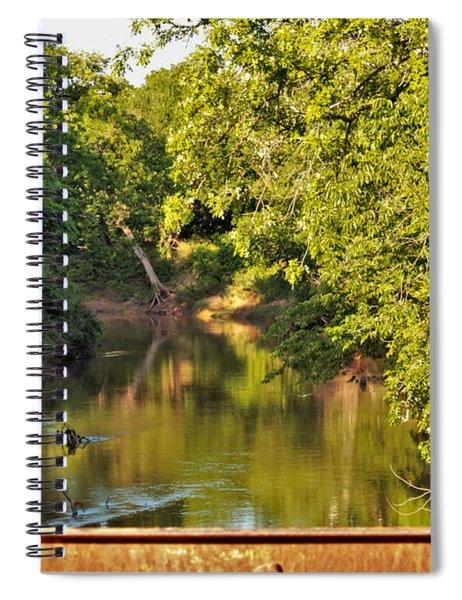 Creek View Through Bridge Trusses Spiral Notebook