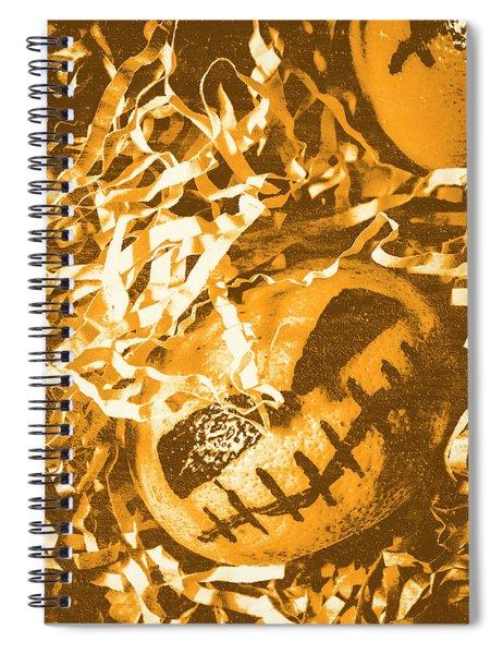 Creepy Vintage Pumpkin Head  Spiral Notebook