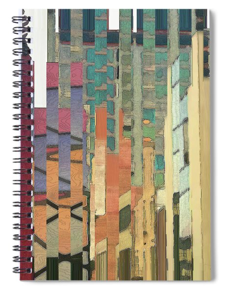 Spiral Notebook featuring the digital art Crenellations by Gina Harrison