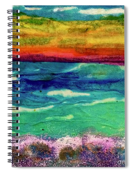 Crepe Paper Sunset Spiral Notebook