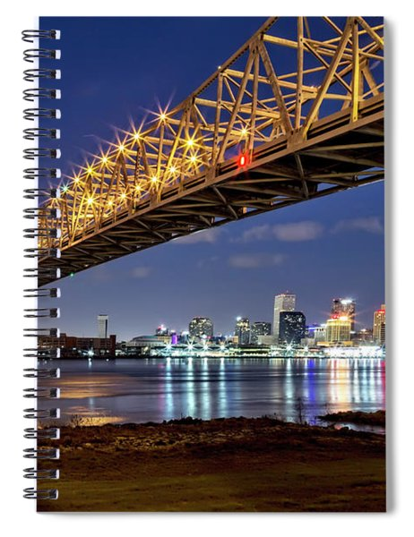 Crescent City Bridge, New Orleans Spiral Notebook
