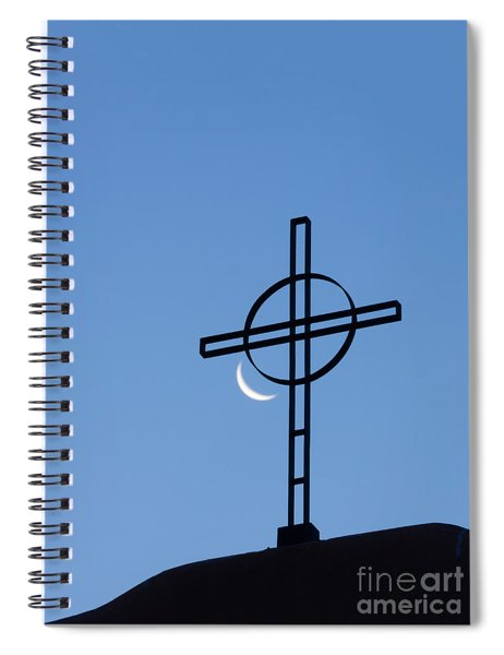 Crescent Moon And Cross Spiral Notebook