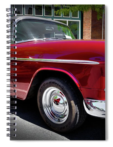 Crimson And Gray 1955 Chevy Spiral Notebook