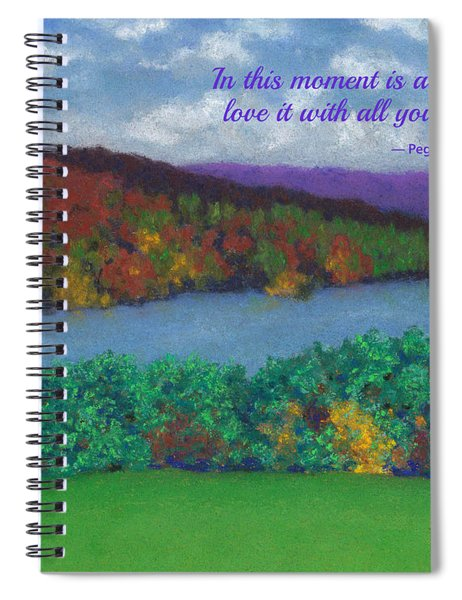 Crisp Kripalu Morning - With Quote Spiral Notebook
