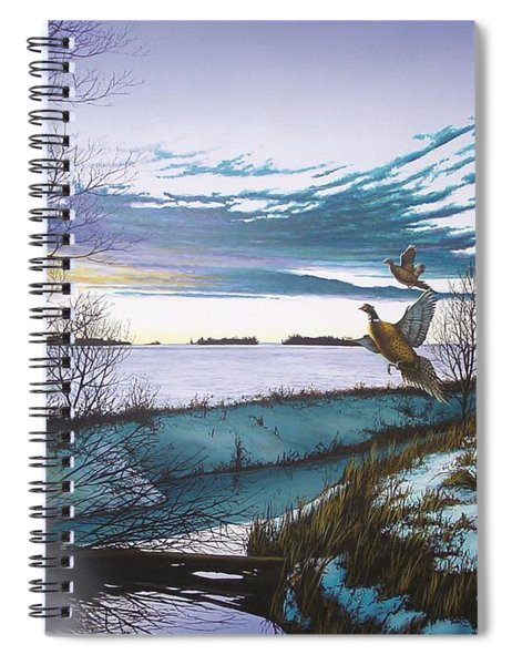 Crisp Winter Light Spiral Notebook