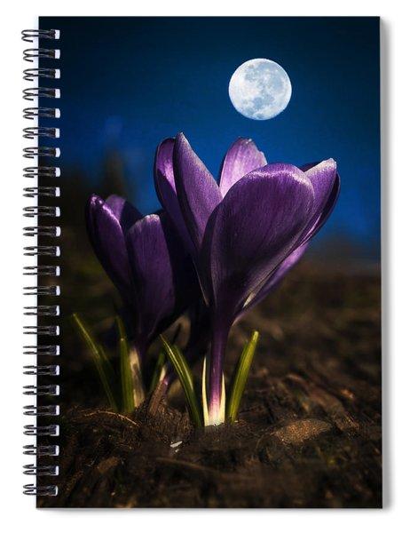 Crocus Moon Spiral Notebook