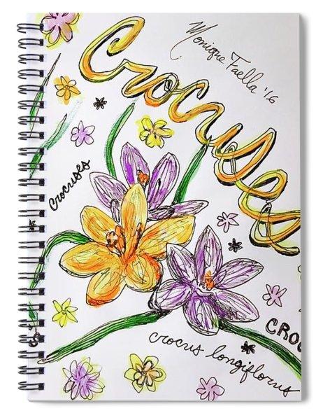 Crocuses Spiral Notebook