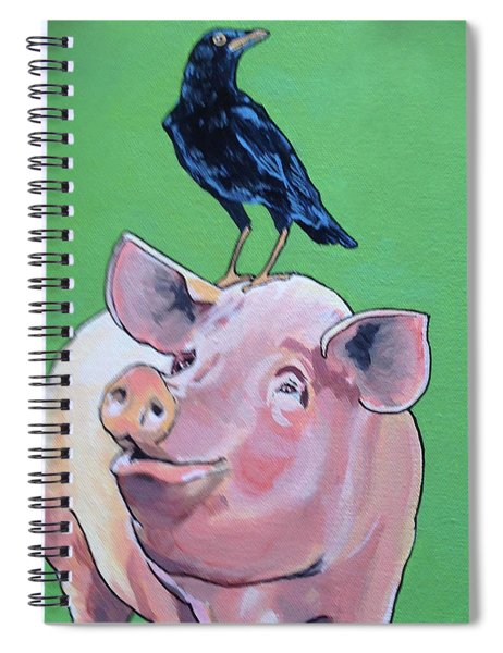 Cromwell The Crow Spiral Notebook