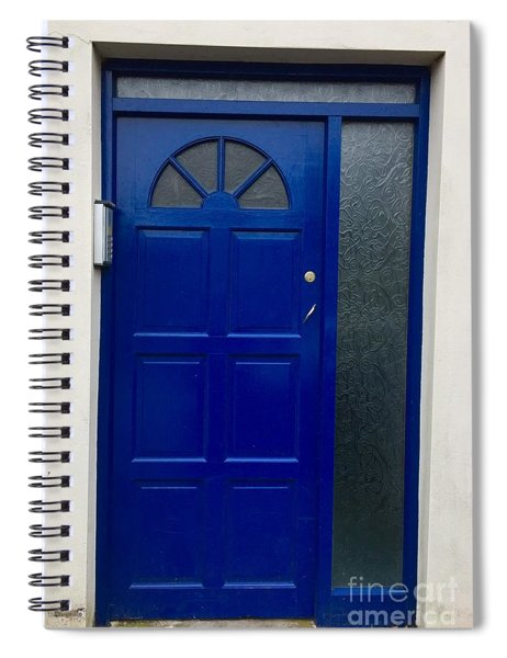 Crooked Blue Door In  Ireland  Spiral Notebook