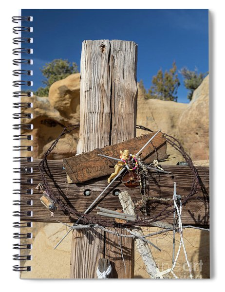 Cross And Barbed Wire Crown Spiral Notebook