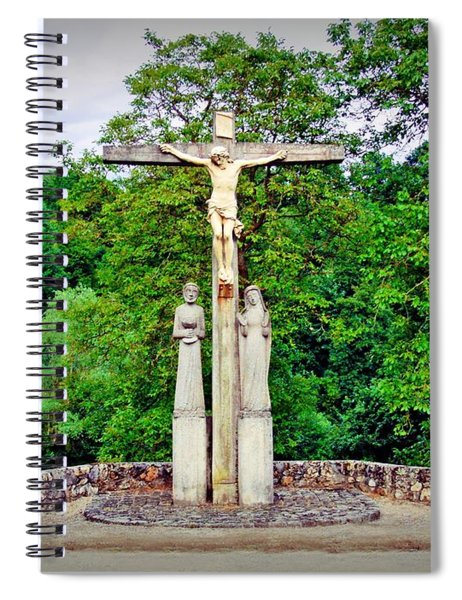 Cross In The Country - Saint Mihiel, France Spiral Notebook