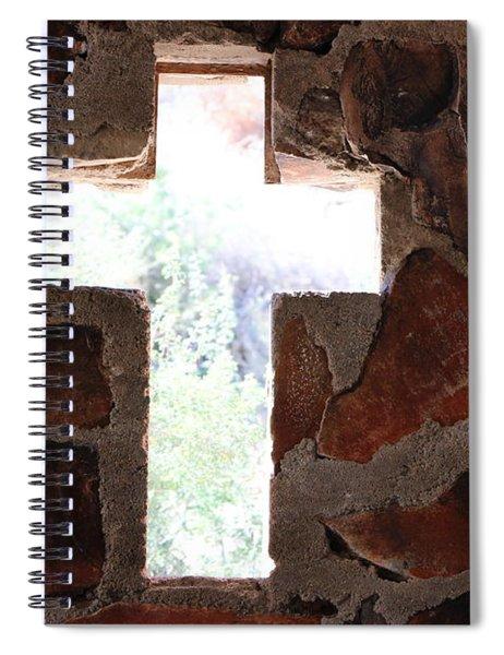 Cross Shaped Window In Chapel  Spiral Notebook