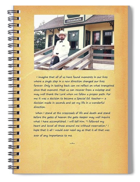 Crossroads I Spiral Notebook