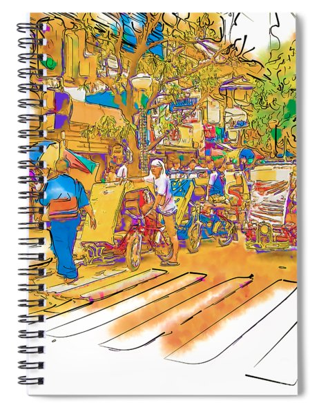 Crosswalk In The Philippines Spiral Notebook