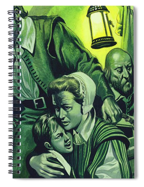 Crowded Conditions On The Mayflower Spiral Notebook