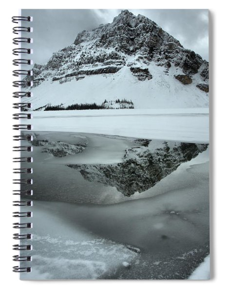 Crowfoot Reflecting In The Icy Waters Spiral Notebook