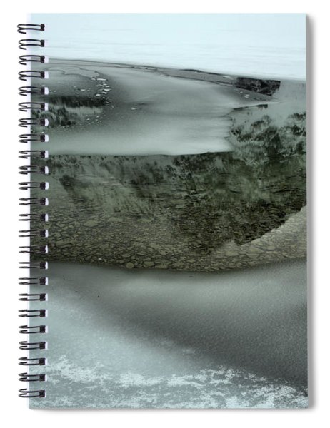 Crowfoot Reflecting In The Rocky Bottom Spiral Notebook