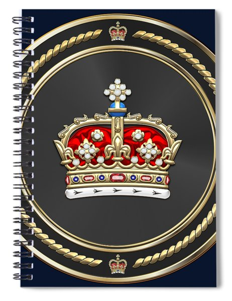 Crown Of Scotland Over Blue Velvet Spiral Notebook