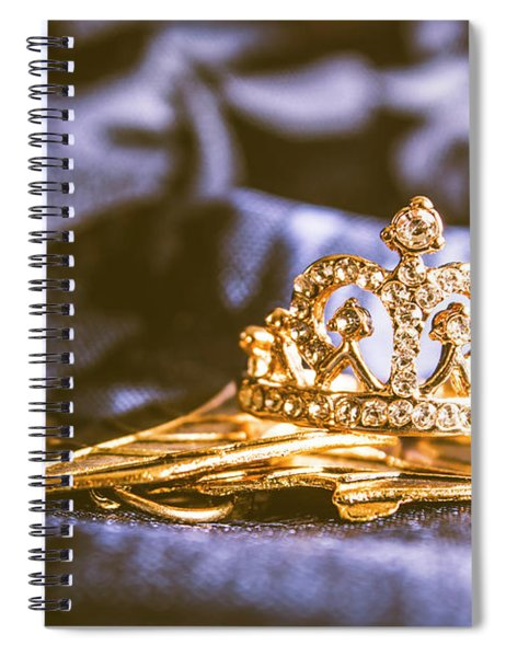 Crowned Tiara Jewellery Spiral Notebook