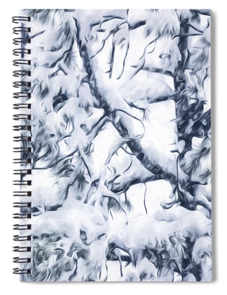 Crows In Snow Spiral Notebook