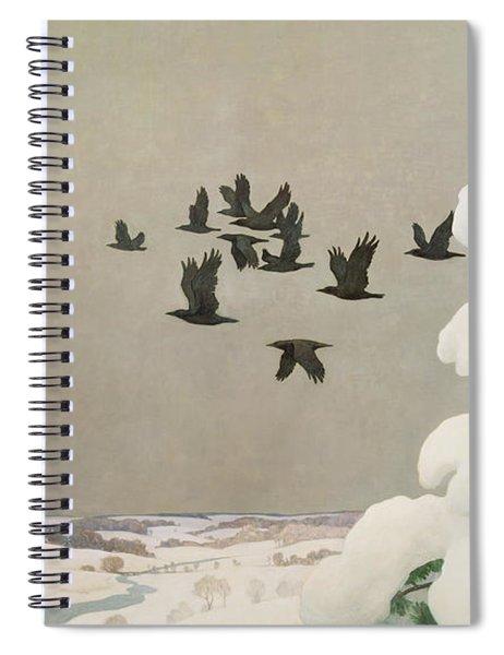 Crows In Winter Spiral Notebook
