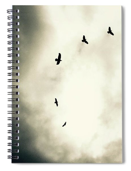 Crows On Christmas Eve 1 Spiral Notebook