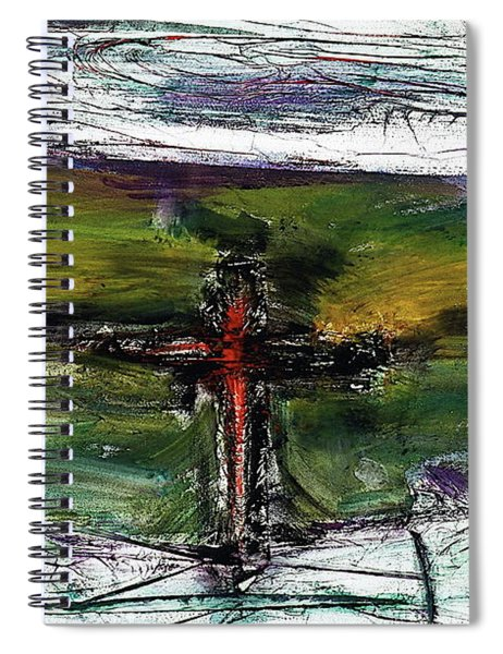 Spiral Notebook featuring the painting Crucifixion #3 by Michael Lucarelli