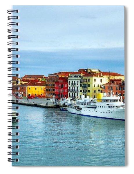 Cruising Into Venice # 2 Spiral Notebook by Mel Steinhauer