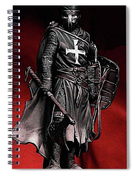 Crusader Warrior - Medieval Warfare Spiral Notebook