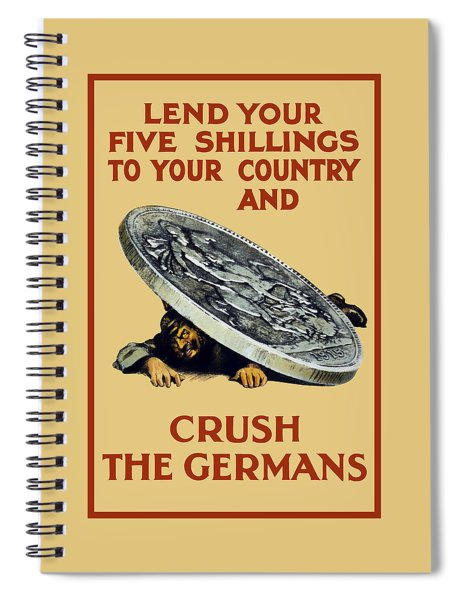 Crush The Germans - Ww1 Spiral Notebook