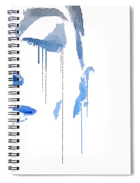 Spiral Notebook featuring the digital art Crying In Pain by ISAW Company