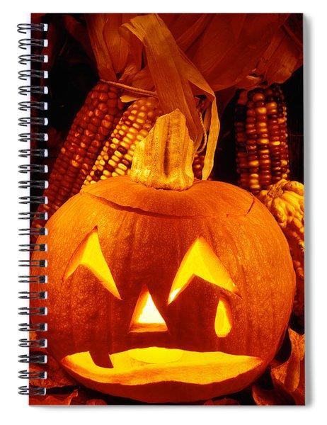 Crying Pumpkin Spiral Notebook