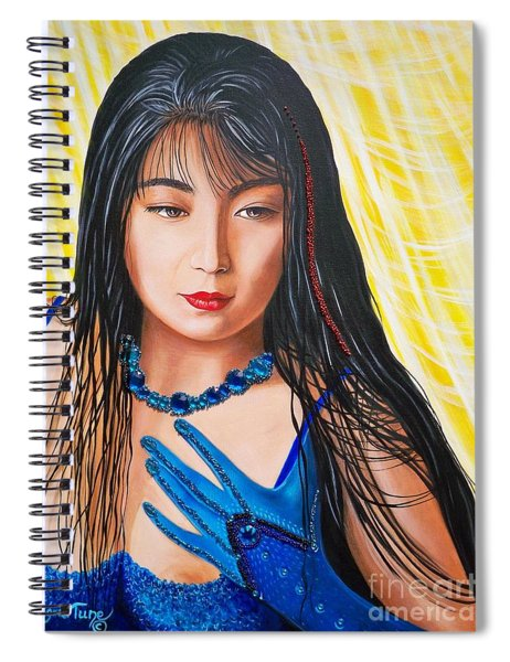 Crystal Blue China Girl            From   The Attitude Girls  Spiral Notebook
