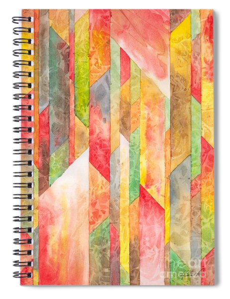 Crystal Colors Watercolor Spiral Notebook