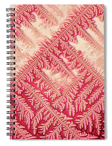 Crystal In Red Pigment Spiral Notebook