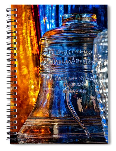 Crystal Liberty Bell Spiral Notebook
