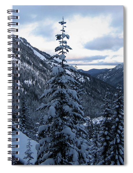 Spiral Notebook featuring the photograph Crystal Mountain Dawn by Lorraine Devon Wilke