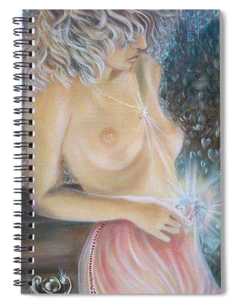 Blaa Kattproduksjoner      Crystal Wonder Viking Girl  Spiral Notebook