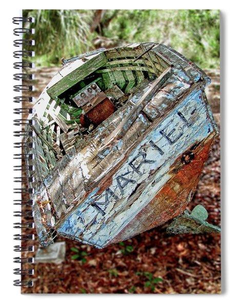 Cuban Refugee Boat 3 The Mariel Spiral Notebook